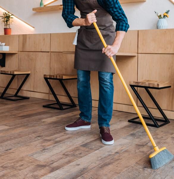 Sweep hardwood floor | Carpet Your World