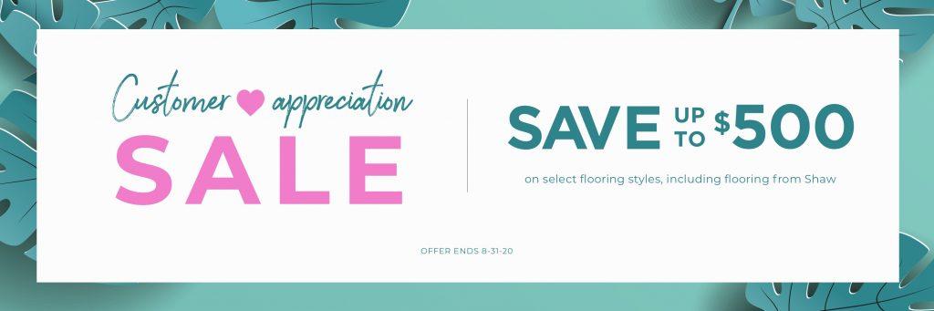 Customer Appreciation Sale   Carpet Your World