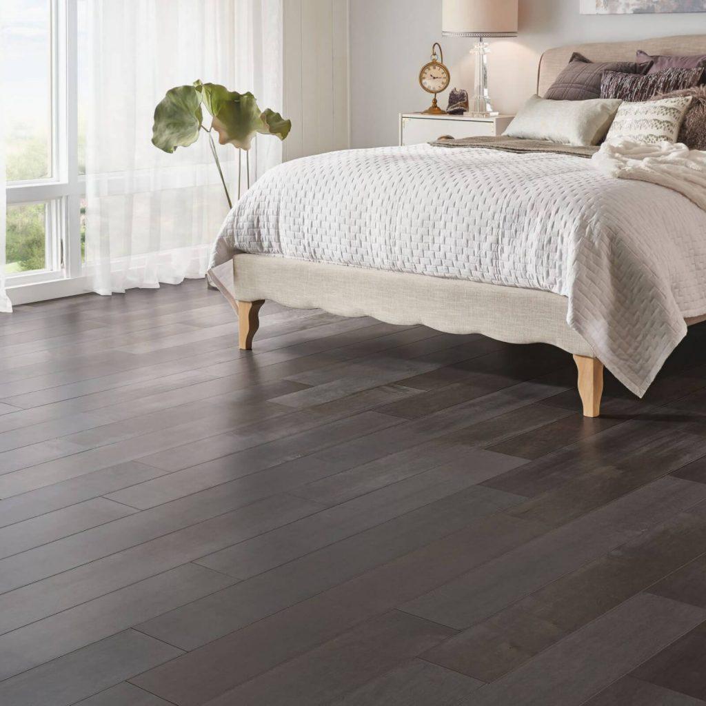Bedroom engineered hardwood flooring